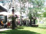 Country Club outdoor summer patio (restaurant open to public).