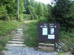 Enjoy the many hiking trails this Former Ski Mt offers!