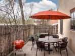Back patio is fully enclosed; great for dogs