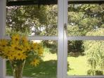 Glorious views from all windows in this peaceful country apartment