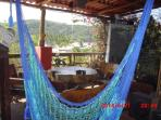 Hammock on upper lanai with ocean views