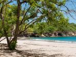 Beautiful Playa Minas with shady trees, soft sand and snorkeling - only 5 minutes drive away
