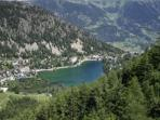 Champex-Lac from the chairlift