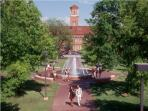 Midwestern State University, only a few minutes from the house-a nice stroll.