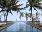 Beachfront view, Villa Lalang