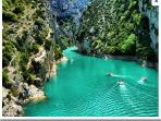 Gorges du Verdon et ses eaux turquoises, proche de la location.