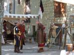 Medieval pageant at Cordes sur Ciel - wonderful fun for all the family!