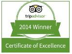 Pleased to announce our Trip Advisor certificate of excellence 3 years running !!!