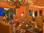 Experience gourmet cuisine with family and friends in your formal dining room