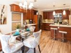 Well open lay out of dinning and Kitchen
