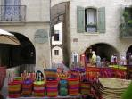 Delightful saturday market in Uzes