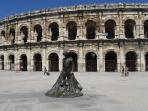 The Roman Amphiteatre still the heart of city, hosting concerts, shows, bull games ...