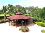 View of the covered Gazebo & BBQ from the 2nd fllor wrap around terrace