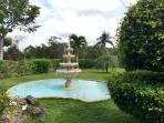 The beautiful water fountain greets you as you enter the circular drive to the property.