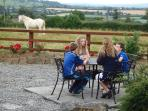 Picnic area for your exclusive use, horse observing and panoramic unrestricted views