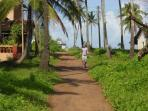 Way to the beach side !!