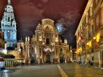 Murcia Old Town at Night
