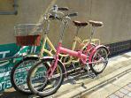 2 bikes free to use.