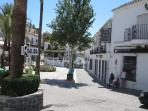 Shops, restaurants, museums, bull ring, dancing, and much more in Mijas Pueblo.