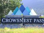 welcome Crowsnest pass