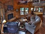 Comfortable and inviting great room. Put your feet up and stay a while!