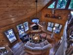 Great room from above!