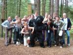 Fun with friends at Go Ape? Only near Elton Old Hall c1668!