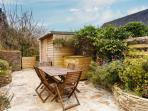 Secure and private garden ideal for al-fresco dining