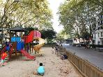 Five minutes from the apartment, there are several parks for kids