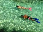 Drop down into the blue lagoon for beautiful snorkeling