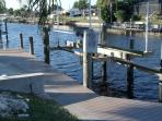 NEW BOATDOCK/LIFT...HERE THE BOATERS PARK THEIR BOAT. 15MIN RIDE TO CALOOSAHATCHEE  RIVER.