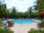 Heated Pool with beautiful furnishings and new bathhouse