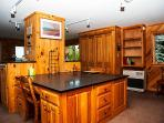 Main Floor Double Desk/Utility Counter