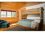 Upstairs bedroom with bunks