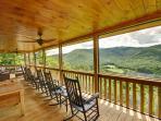 Enjoy the HUGE screened in rocker porch!