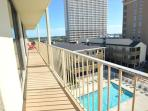 Gulf Village 417 - Fully equipped beachfront condo- 4 TVs, balcony, grilling