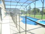 Pool Area with Safety Fence