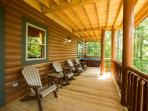 Lower outdoor deck with 2 hot tubs