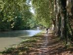 Canal du Midi closeby