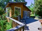 Great garden views and nice private deck from all angles.