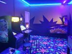 Private commercial grade arcade with all games set to free play.  Classic games and pinball.