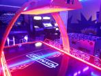 Private commercial grade arcade with all games set to free play.  Air hockey, foosball, and more.