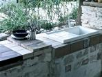 Outdoor kitchen: exposed to the East it has great views to the rising sun and the Adriatic Sea