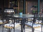 Outdoor BBQ & dining area.