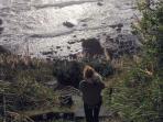 Trail down to private beach (rocky)
