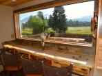 Breakfast bar with picture window to watch herds of elk and deer!