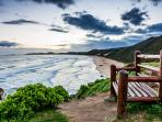 Brenton on Sea Bench and Beach View - Photo Courtesy of Steve Norton 'I'm a Knysna Fan FB page'