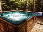 Hot tub on porch