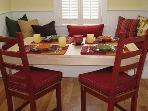 Dining room table and breakfast nook