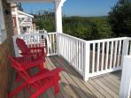 Adirondack chairs on the back deck